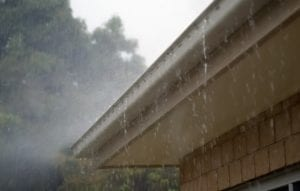 Severe storms can damage gutters.
